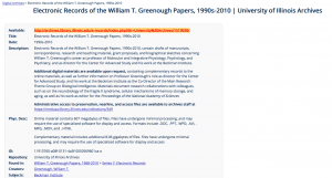 Single Digital Object Record for William Greenough Papers